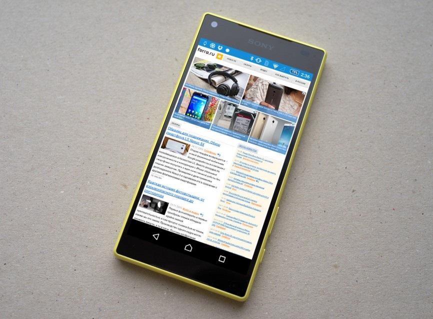 Автономность Sony Xperia Z5