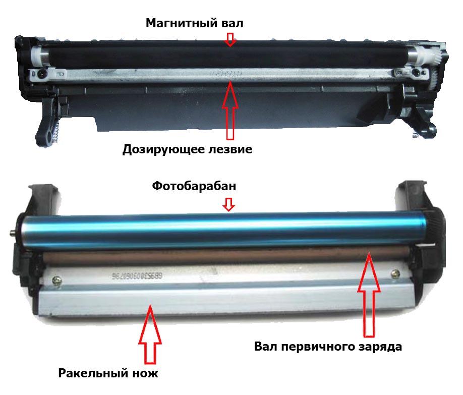 Схема лазерного картриджа