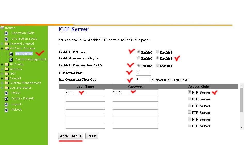 Создание локального FTP-сервер
