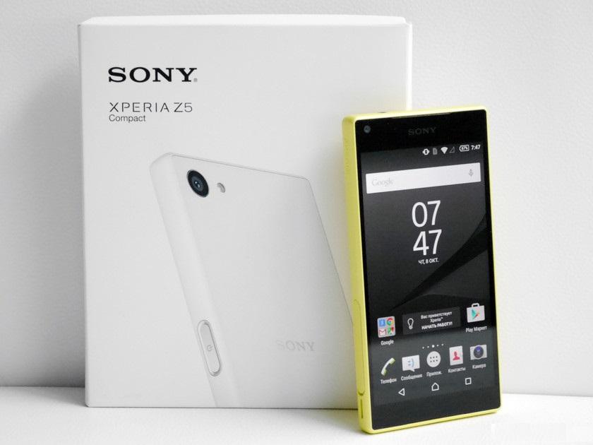 комплектация Sony Xperia Z5