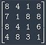 матрица 4 порядка