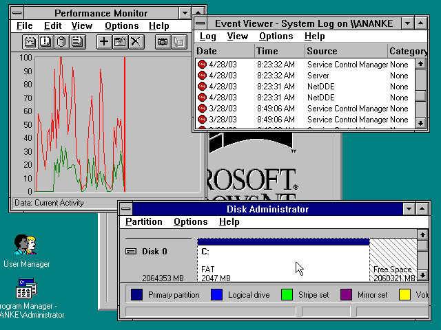 windows nt 3.1 workstation
